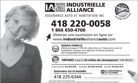 Assurance auto assurance auto industrielle alliance for Assurance maison industrielle alliance