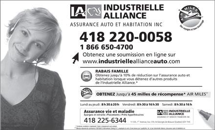 Assurance auto assurance auto industrielle alliance for Assurance maison industrielle alliance