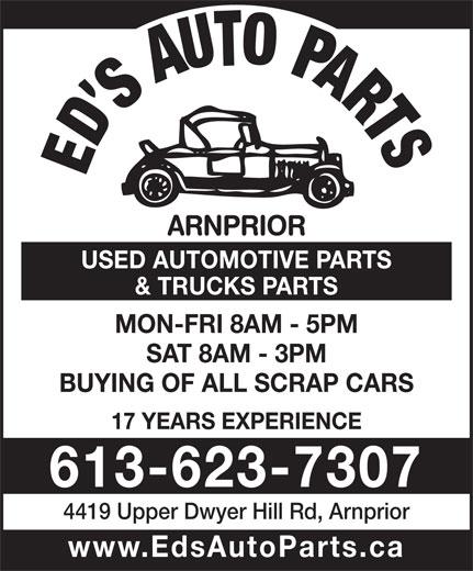 Ads Ed's Auto Parts Arnprior