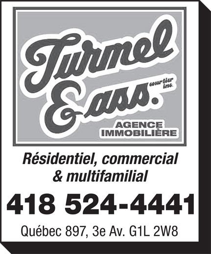 Turmel & Ass Courtiers Inc (418-524-4441) - Annonce illustrée======= -