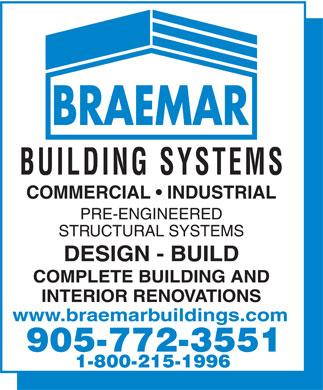 Braemar Building Systems (905-772-3551) - Annonce illustrée======= -