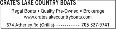 Crate's Lake Country Boats (705-327-9741) - Display Ad - Regal Boats   Quality Pre-Owned   Brokerage www.crateslakecountryboats.com  Regal Boats   Quality Pre-Owned   Brokerage www.crateslakecountryboats.com  Regal Boats   Quality Pre-Owned   Brokerage www.crateslakecountryboats.com  Regal Boats   Quality Pre-Owned   Brokerage www.crateslakecountryboats.com  Regal Boats   Quality Pre-Owned   Brokerage www.crateslakecountryboats.com  Regal Boats   Quality Pre-Owned   Brokerage www.crateslakecountryboats.com