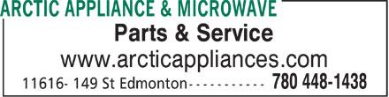 Samsung Authorized Service Centre (780-448-1438) - Display Ad - Parts & Service www.arcticappliances.com  Parts & Service www.arcticappliances.com