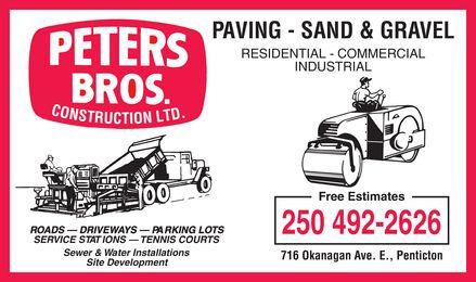 Ads Peter's Bros. Construction Ltd