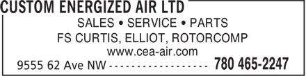 Custom Energized Air Ltd (780-465-2247) - Annonce illustrée======= - www.cea-air.com SALES • SERVICE • PARTS FS CURTIS, ELLIOT, ROTORCOMP www.cea-air.com SALES • SERVICE • PARTS FS CURTIS, ELLIOT, ROTORCOMP SALES • SERVICE • PARTS FS CURTIS, ELLIOT, ROTORCOMP www.cea-air.com SALES • SERVICE • PARTS FS CURTIS, ELLIOT, ROTORCOMP www.cea-air.com