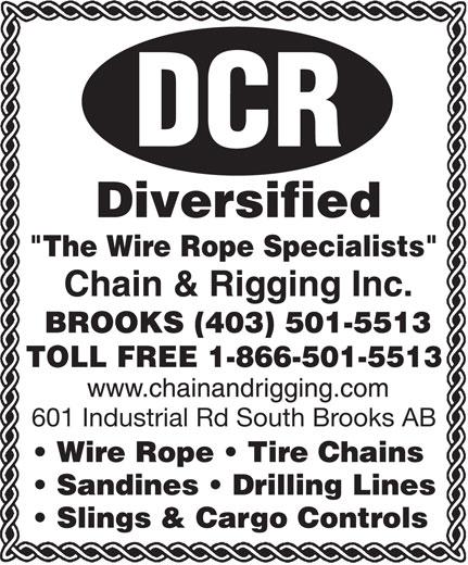 Diversified Chain & Rigging Inc (403-501-5513) - Annonce illustrée======= -