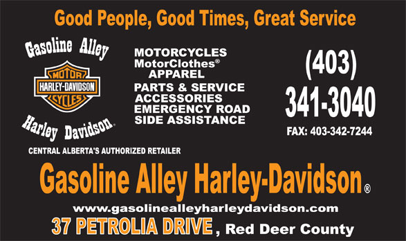 Gasoline Alley Harley-Davidson (403-341-3040) - Display Ad -
