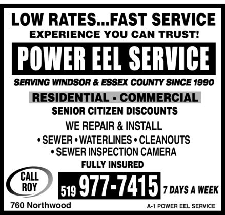 Power Eel Service (519-977-7415) - Display Ad -