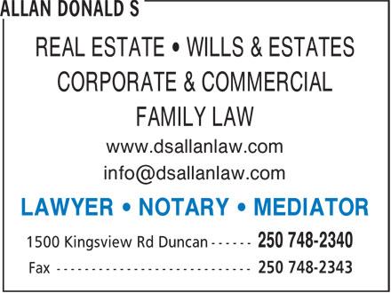 Ads Allan Donald S