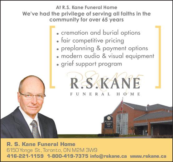 Kane Funeral Home Ltd (416-221-1159) - Display Ad -