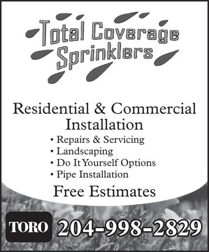 Total Coverage Sprinklers (204-998-2829) - Annonce illustrée======= -