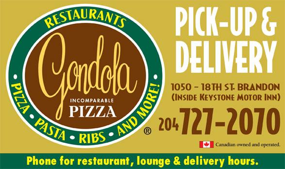 Gondola Pizza (204-727-2070) - Annonce illustrée======= -