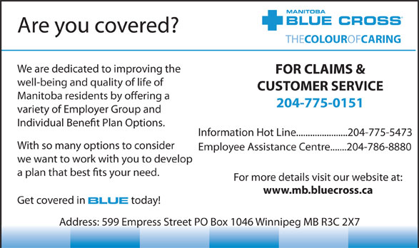 Blue Cross (204-775-0151) - Display Ad -