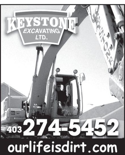 Keystone Excavating Ltd (403-274-5452) - Annonce illustrée======= -