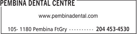 Pembina Dental Centre (204-453-4530) - Annonce illustrée======= - www.pembinadental.com