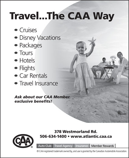 CAA (506-634-1400) - Display Ad -