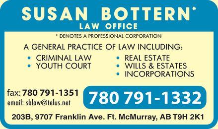 Bottern Susan Law Office (780-791-1332) - Display Ad -