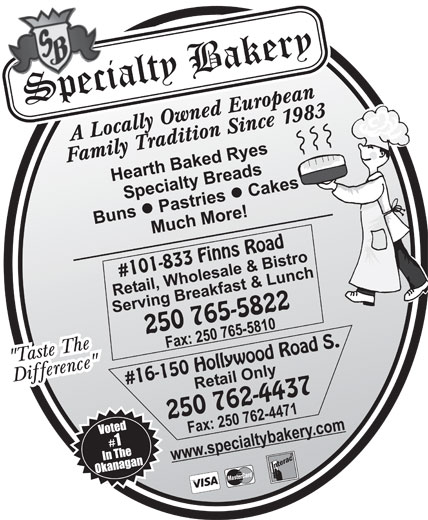 Specialty Bakery & Bistro (250-765-5822) - Display Ad -