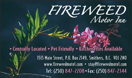 Fireweed Motor Inn (250-847-2208) - Display Ad -