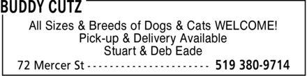 Buddy Cutz (519-380-9714) - Annonce illustrée======= - All Sizes & Breeds of Dogs & Cats WELCOME! Pick-up & Delivery Available Stuart & Deb Eade