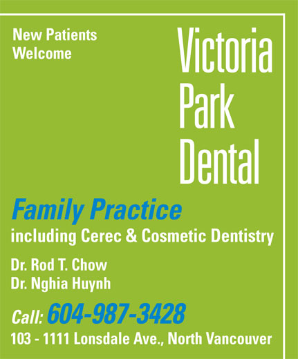 Dr. Rod T. Chow Inc (604-987-3428) - Annonce illustrée======= -