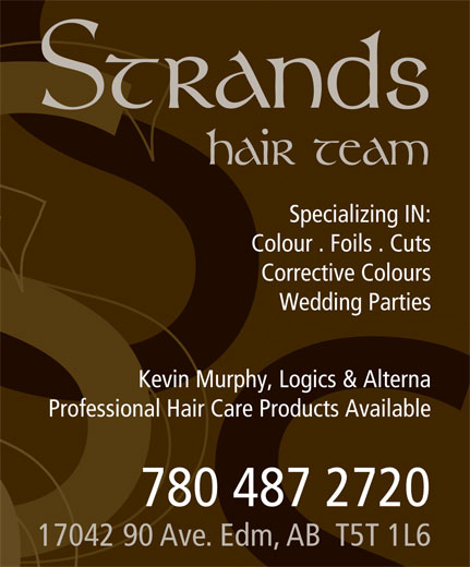 Strands Hair Team (780-487-2720) - Annonce illustrée======= -