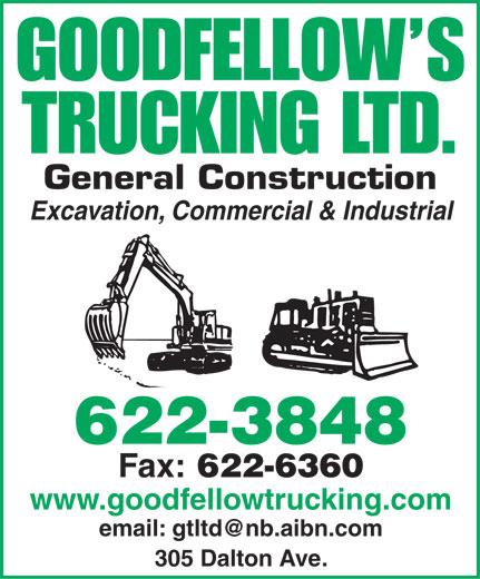Goodfellow's Trucking (506-622-3848) - Annonce illustrée======= -