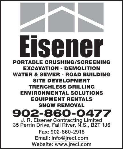 Eisener Contracting (902-860-0477) - Annonce illustrée======= -