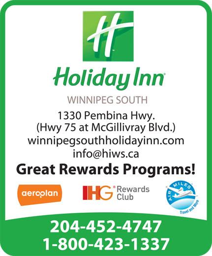 Holiday Inn (204-452-4747) - Display Ad -