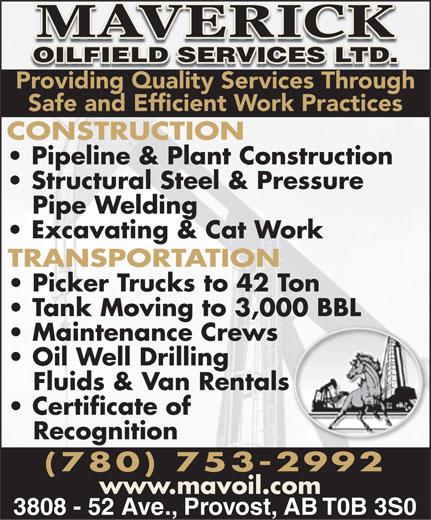 Ads Maverick Oilfield Services Ltd