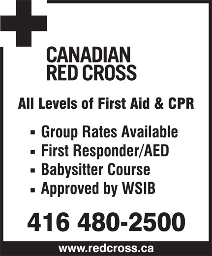 Canadian Red Cross (416-480-2500) - Display Ad -