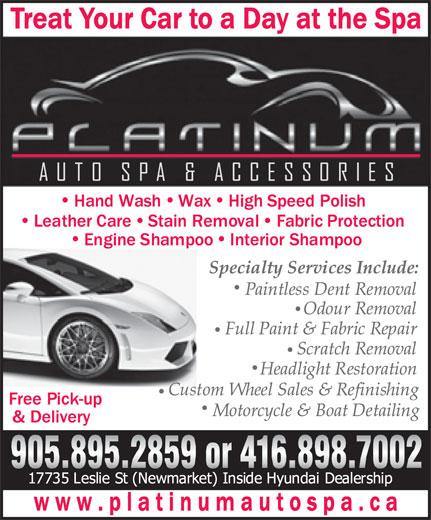 Platinum Auto Spa Detailing (905-895-2859) - Display Ad -