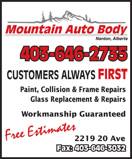 Mountain Auto Body (403-646-2735) - Display Ad -