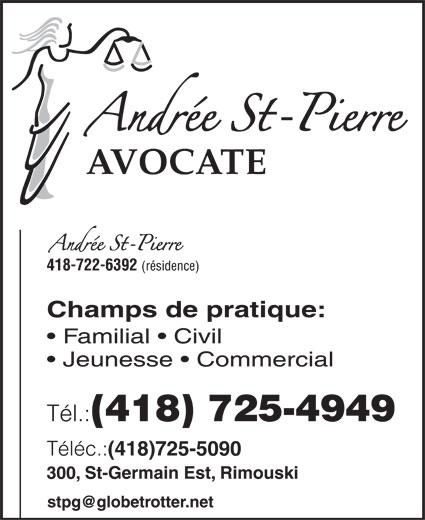Andrée St-Pierre (418-725-4949) - Annonce illustrée======= -
