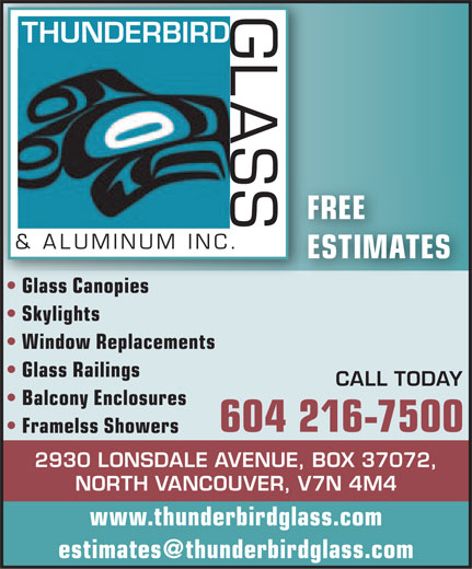 Ads Thunderbird Glass & Aluminum Inc