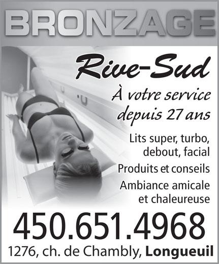 Bronzage Rivesud (450-651-4968) - Display Ad -