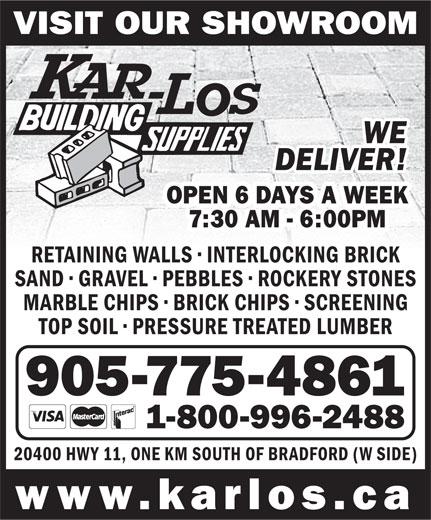 Kar Los Building Supplies 20400 Hwy 11 W Bradford On