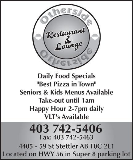 Other Side Family Restaurant & Lounge (403-742-5406) - Annonce illustrée======= -