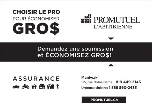 Promutuel Assurance Boréale (819-449-5143) - Annonce illustrée======= -