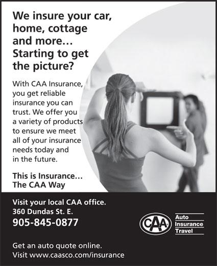 CAA Auto & Property Insurance (905-845-0877) - Display Ad -
