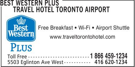 Best Western Plus (1-877-772-3297) - Annonce illustrée======= - Free Breakfast ¿ Wi-Fi ¿ Airport Shuttle www.traveltorontohotel.com