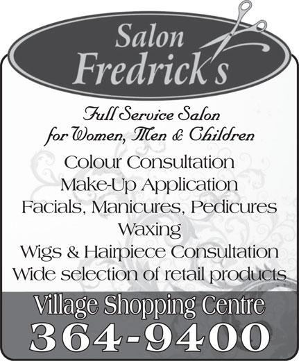 Salon Fredrick's (709-364-9400) - Annonce illustrée======= -
