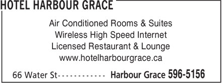 Hotel Harbour Grace (709-596-5156) - Display Ad -