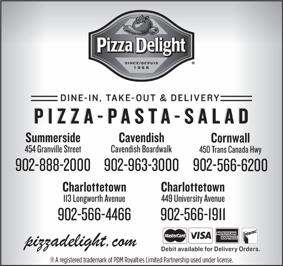 Pizza Delight (902-566-1911) - Display Ad -