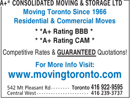 The Box Spot (416-922-9595) - Annonce illustrée======= - Moving Toronto Since 1966 Residential & Commercial Moves * *A+ Rating BBB * * *A+ Rating CAM * Competitive Rates & GUARANTEED Quotations! For More Info Visit: www.movingtoronto.com  Moving Toronto Since 1966 Residential & Commercial Moves * *A+ Rating BBB * * *A+ Rating CAM * Competitive Rates & GUARANTEED Quotations! For More Info Visit: www.movingtoronto.com  Moving Toronto Since 1966 Residential & Commercial Moves * *A+ Rating BBB * * *A+ Rating CAM * Competitive Rates & GUARANTEED Quotations! For More Info Visit: www.movingtoronto.com  Moving Toronto Since 1966 Residential & Commercial Moves * *A+ Rating BBB * * *A+ Rating CAM * Competitive Rates & GUARANTEED Quotations! For More Info Visit: www.movingtoronto.com