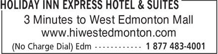 Days Inn (780-444-4440) - Display Ad - 3 Minutes to West Edmonton Mall www.hiwestedmonton.com