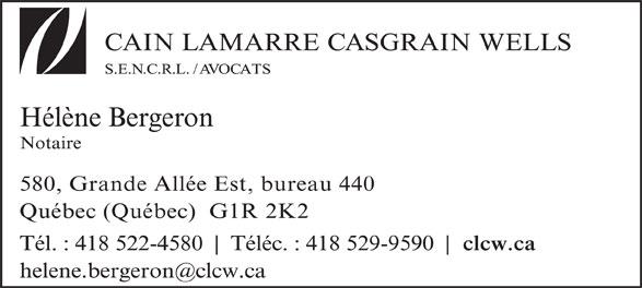 Bergeron Hélène (418-522-4580) - Annonce illustrée======= -