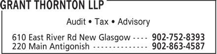 Grant Thornton (902-752-8393) - Annonce illustrée======= - Audit • Tax • Advisory