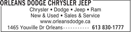 Orleans Dodge Chrysler Jeep (613-830-1777) - Annonce illustrée======= - Chrysler • Dodge • Jeep • Ram New & Used • Sales & Service www.orleansdodge.ca  Chrysler • Dodge • Jeep • Ram New & Used • Sales & Service www.orleansdodge.ca  Chrysler • Dodge • Jeep • Ram New & Used • Sales & Service www.orleansdodge.ca  Chrysler • Dodge • Jeep • Ram New & Used • Sales & Service www.orleansdodge.ca  Chrysler • Dodge • Jeep • Ram New & Used • Sales & Service www.orleansdodge.ca  Chrysler • Dodge • Jeep • Ram New & Used • Sales & Service www.orleansdodge.ca