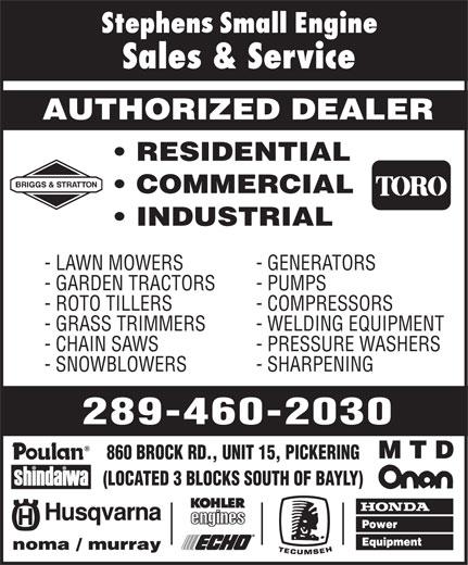 Ads Stephens Small Engine Sales & Service
